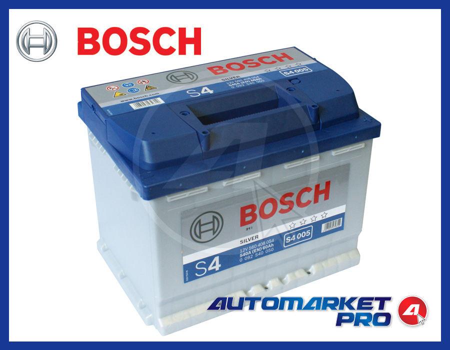 batteria per auto bosch s4 60 ah 540 en 12 volt avviamento s4005 0092s40050 ebay. Black Bedroom Furniture Sets. Home Design Ideas