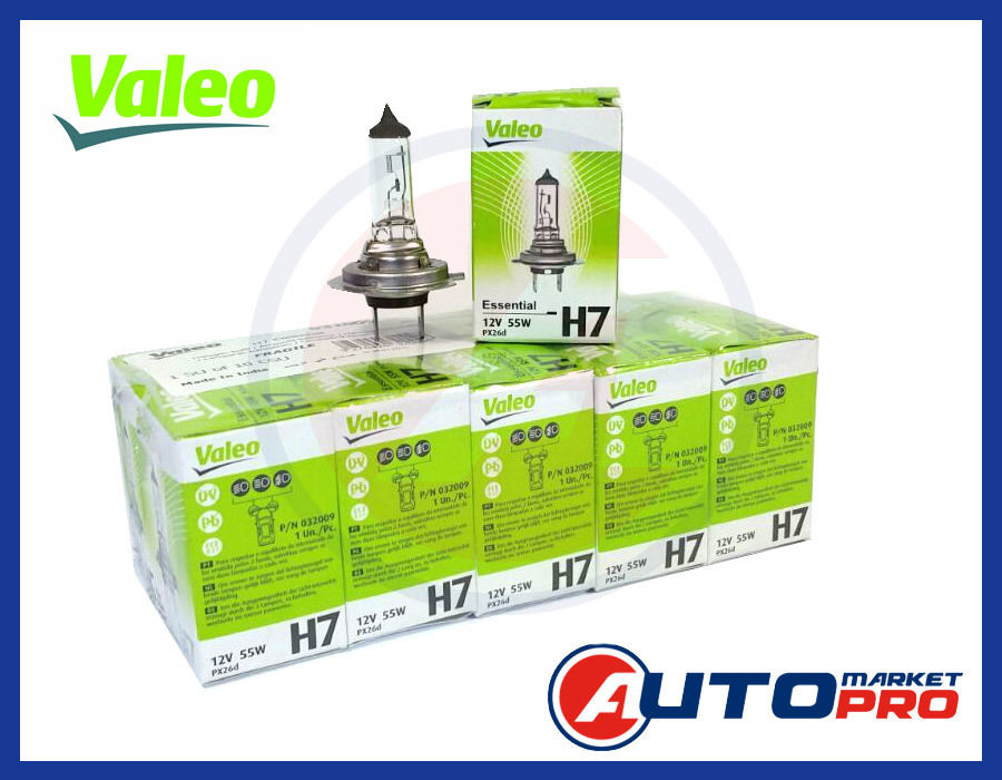 OFFERTA SPECIALE KIT LAMPADE H7 10 PEZZI VALEO ESSENTIAL 032009 12 V 55 W PX26D